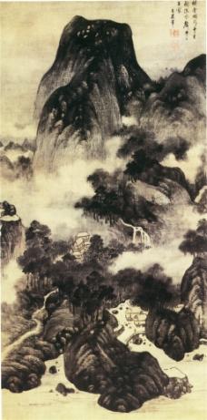 云岭水声图装饰画