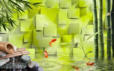 抽象方块背景墙