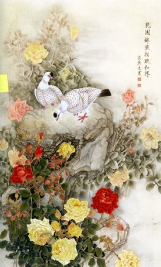 古典中式风格花卉装饰画