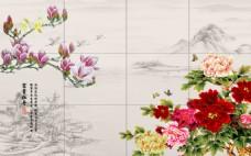 鲜花装饰背景墙