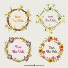 在复古风格的集婚礼花环