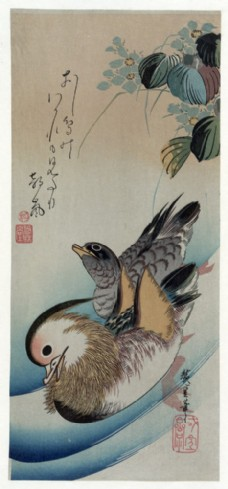 水墨鸳鸯图片