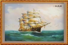 一帆风顺壁画图片