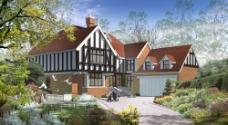 别墅花园景观设计图片