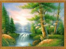 树林风景装饰画