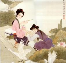 古典中式人物装饰背景墙