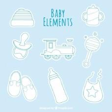 扁平婴儿淋浴器