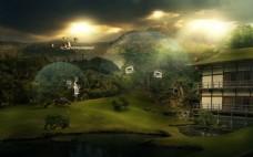 景区园林效果设计图片