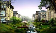 别墅小区园林景观设计图片
