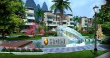 小区楼盘景观设计图片