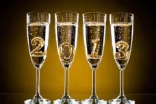 香槟里的2013立体字图片