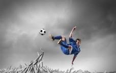 足球与男人图片