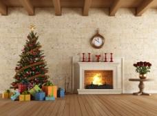 礼物与圣诞树图片