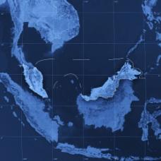 蓝色地图图片