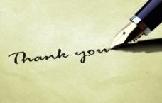 钢笔字谢谢字母图片