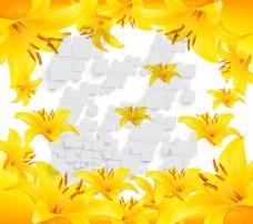 黄色背景装饰素材