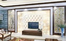 欧式简约电视背景墙设计素材