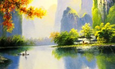 自然风景水墨画图片