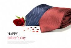 玫瑰花和领带图片