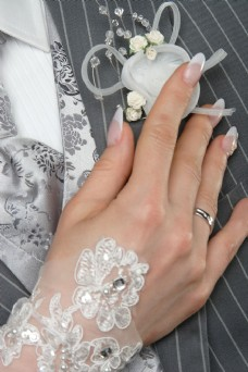 手指上的戒指图片