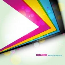 彩色抽象边缘背景与气泡