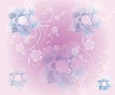 Pink Flowers的背景