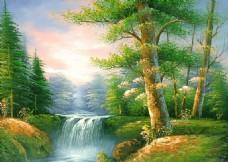 瀑布大自然装饰画