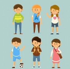 儿童节快乐上学的孩子