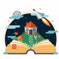 儿童节快乐孩子的故事书