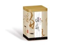 中国风水墨龙井茶叶铁罐包装展开图源文件