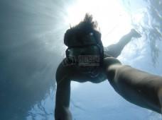 人,游泳,水下,潜水,自拍,护目镜,浮潜