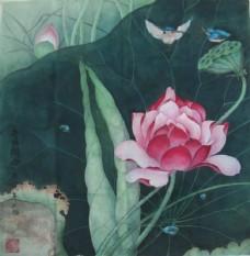 莲花国画图片