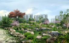 小区园林景观效果图片