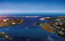 滨海小区建筑鸟瞰图片