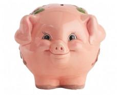 可爱花朵储钱猪图片