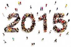 人物组成的2015字体图片