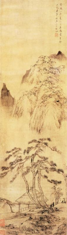 幽亭老树图装饰画
