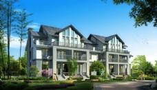 高档复式别墅建筑设计图片