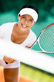 网球运动员特写图片