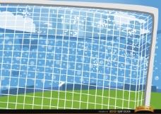 足球门柱卡通背景