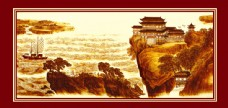 山水国画装饰画图片