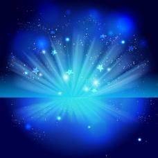 闪亮蓝色庆典夜背景