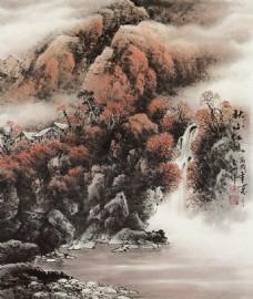中国画装饰背景墙