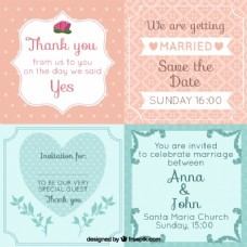 复古婚礼卡片