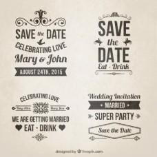 复古婚礼请柬在字体风格