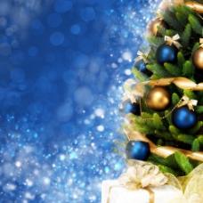 时尚梦幻背景与圣诞树图片