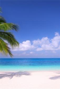 海滩风景装饰画
