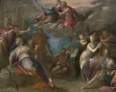 油画欧洲战争装饰画
