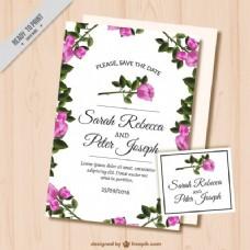 玫瑰结婚卡