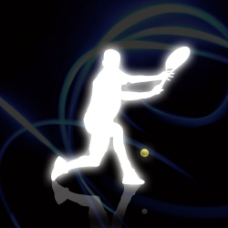 网球运动员剪影图片